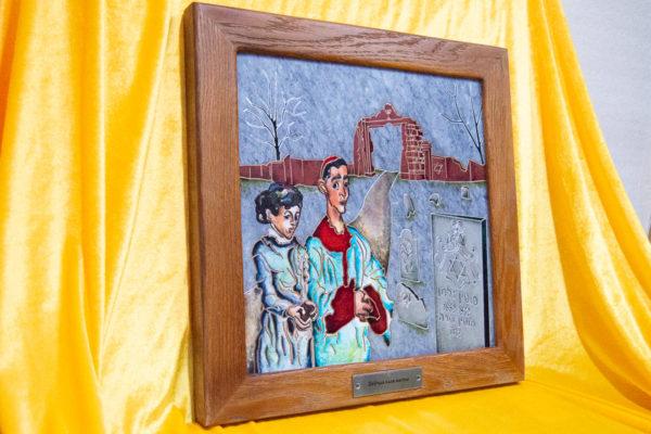 Каменная Картина Певчие у Могилы № 01 (Сутин), изображение, фото 3