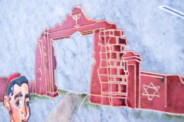 Каменная Картина Певчие у Могилы № 01 (Сутин), изображение, фото 5