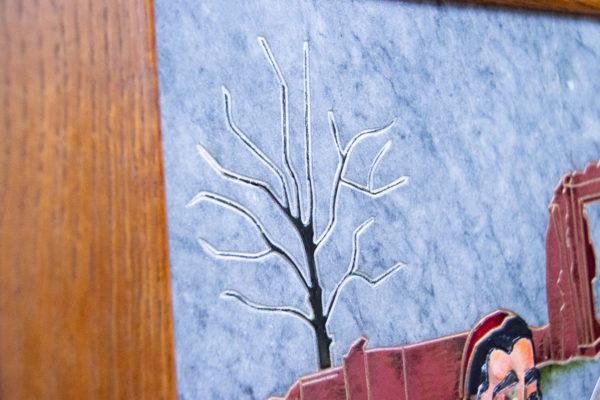 Каменная Картина Певчие у Могилы № 01 (Сутин), изображение, фото 6