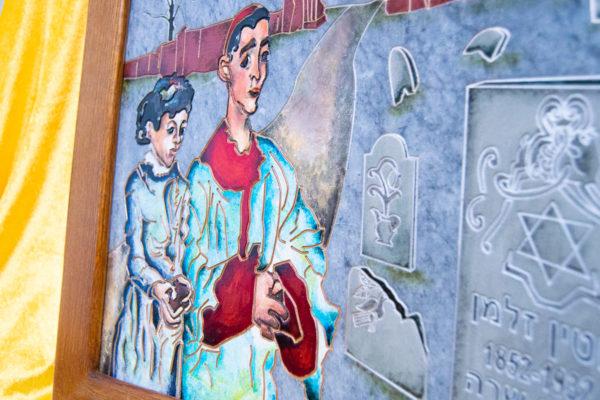 Каменная Картина Певчие у Могилы № 01 (Сутин), изображение, фото 8