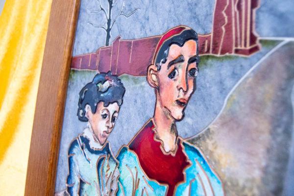 Каменная Картина Певчие у Могилы № 01 (Сутин), изображение, фото 9