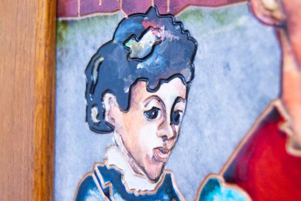 Каменная Картина Певчие у Могилы № 01 (Сутин), изображение, фото 12