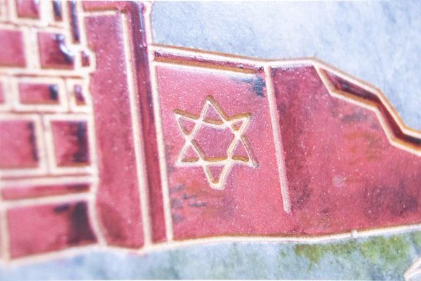 Каменная Картина Певчие у Могилы № 01 (Сутин), изображение, фото 14
