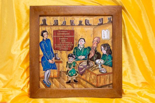 Каменная Картина Парижане в торговой лавке № 01 (Сутин), изображение, фото 13