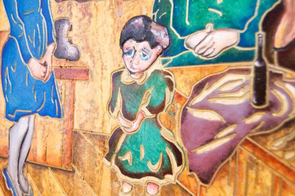 Каменная Картина Парижане в торговой лавке № 01 (Сутин), изображение, фото 12