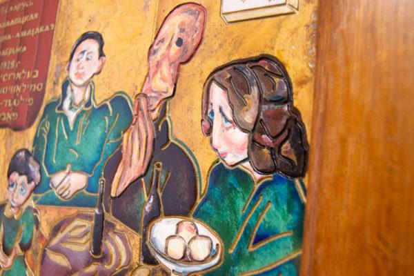 Каменная Картина Парижане в торговой лавке № 01 (Сутин), изображение, фото 8