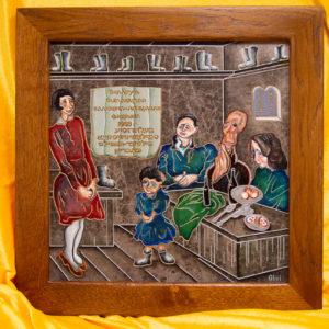 Каменная Картина Парижане в торговой лавке № 02 (Сутин), изображение, фото 10