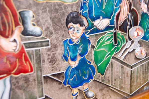 Каменная Картина Парижане в торговой лавке № 02 (Сутин), изображение, фото 7
