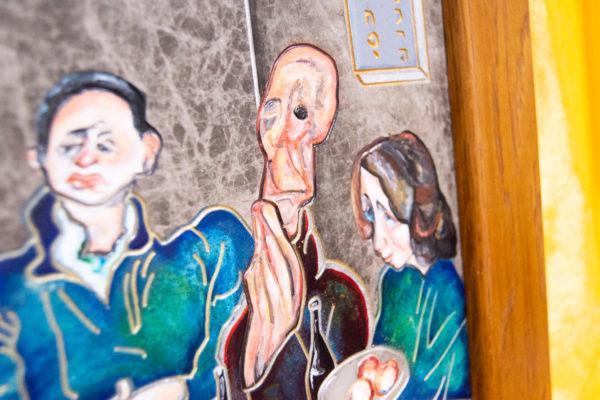 Каменная Картина Парижане в торговой лавке № 02 (Сутин), изображение, фото 9