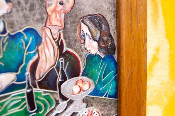 Каменная Картина Парижане в торговой лавке № 02 (Сутин), изображение, фото 1