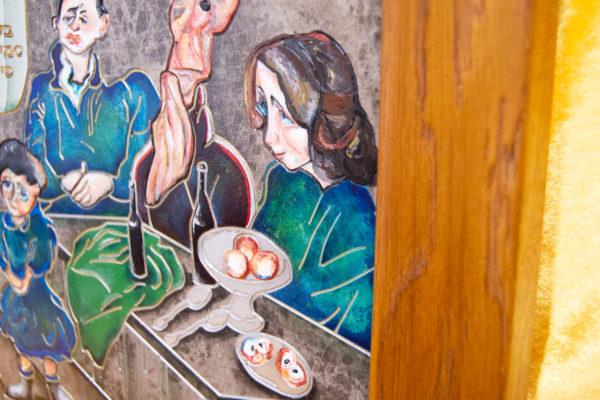 Каменная Картина Парижане в торговой лавке № 02 (Сутин), изображение, фото 2