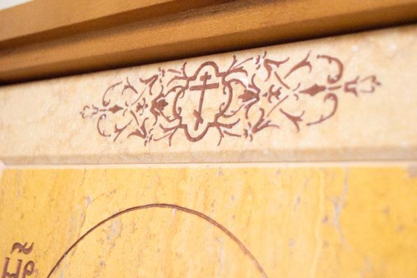 Икона Тихвинской Божией Матери № 1-12,8 из мрамора, камня, изображение, фото 5