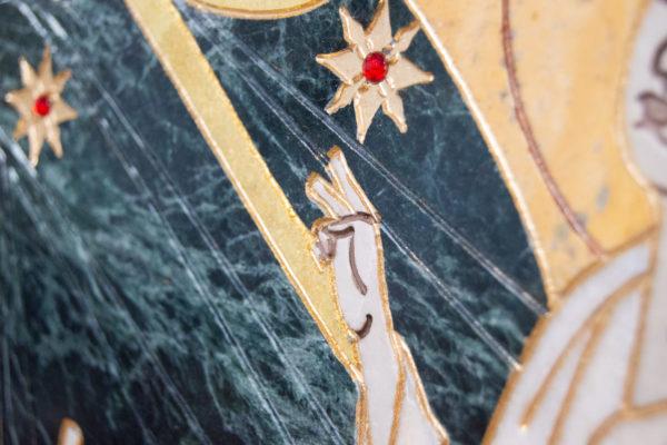 Икона Тихвинской Божией Матери № 1-12,8 из мрамора, камня, изображение, фото 6