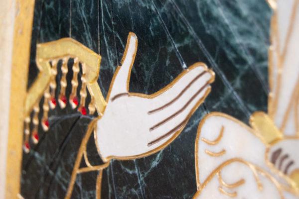 Икона Тихвинской Божией Матери № 1-12,8 из мрамора, камня, изображение, фото 8