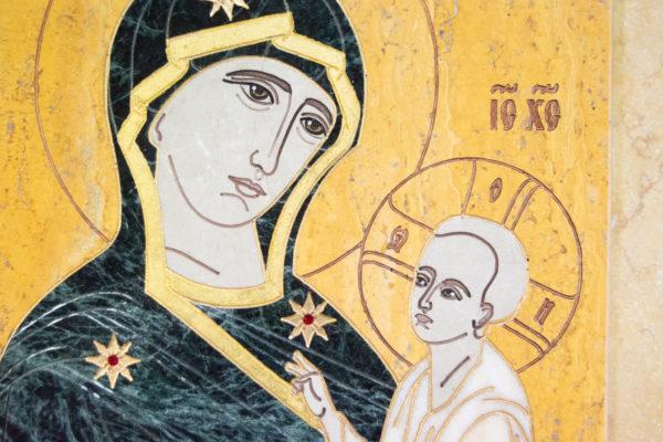 Икона Тихвинской Божией Матери № 1-12,8 из мрамора, камня, изображение, фото 10