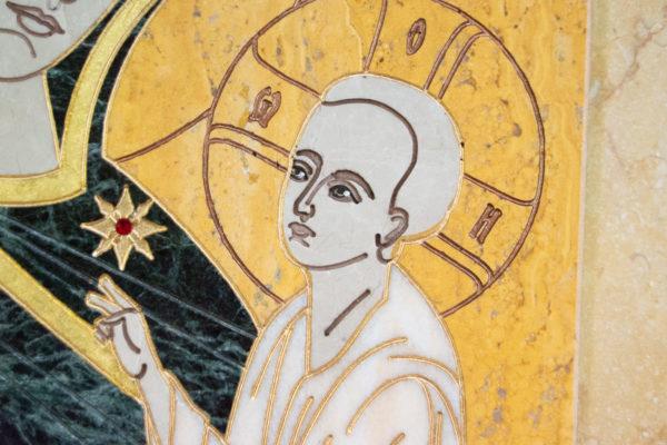 Икона Тихвинской Божией Матери № 1-12,8 из мрамора, камня, изображение, фото 11
