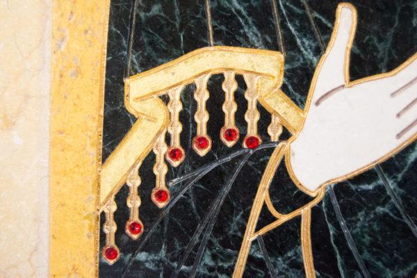 Икона Тихвинской Божией Матери № 1-12,8 из мрамора, камня, изображение, фото 13