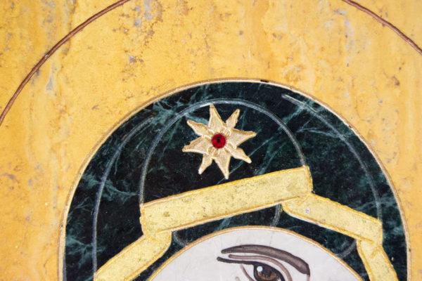 Икона Тихвинской Божией Матери № 1-12,8 из мрамора, камня, изображение, фото 14