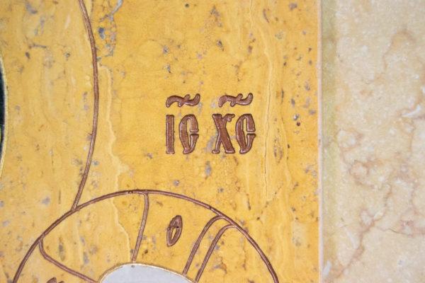 Икона Тихвинской Божией Матери № 1-12,8 из мрамора, камня, изображение, фото 17