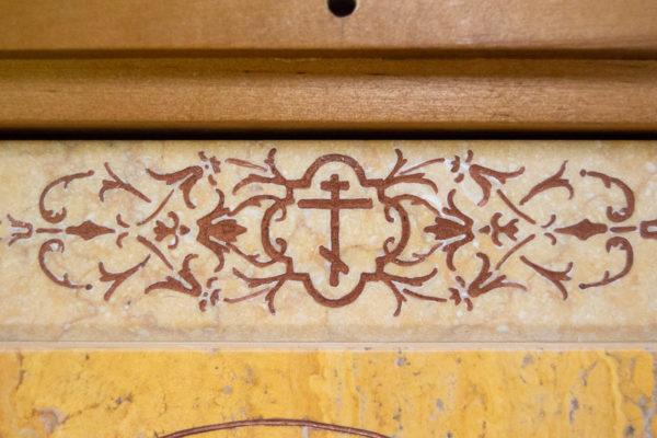 Икона Тихвинской Божией Матери № 1-12,8 из мрамора, камня, изображение, фото 18
